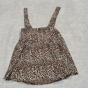 Wild Fable- smocked leopard top